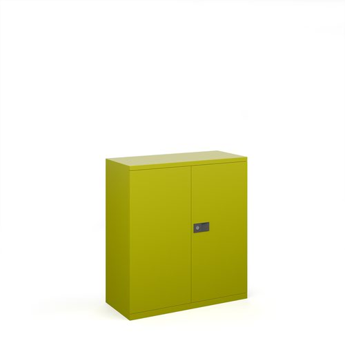 Steel contract cupboard with 1 shelf 1000mm high - green