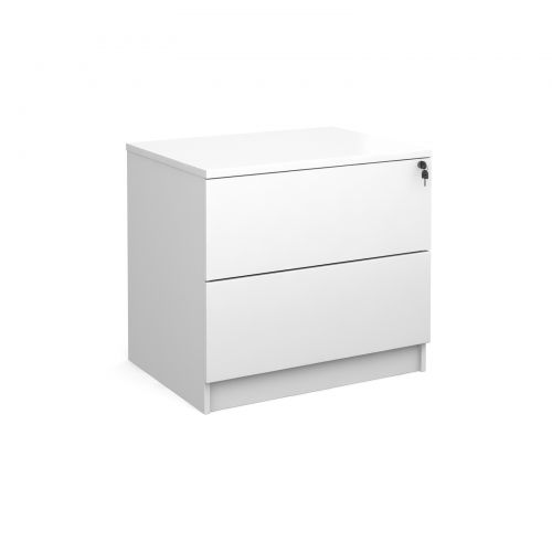 Executive 2 drawer side filer - white