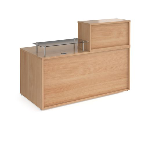 Denver medium straight complete reception unit - beech Reception Desks DVB01-B
