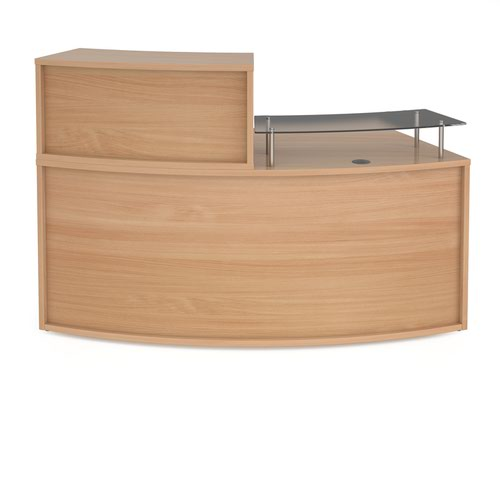 Denver medium curved complete reception unit - beech
