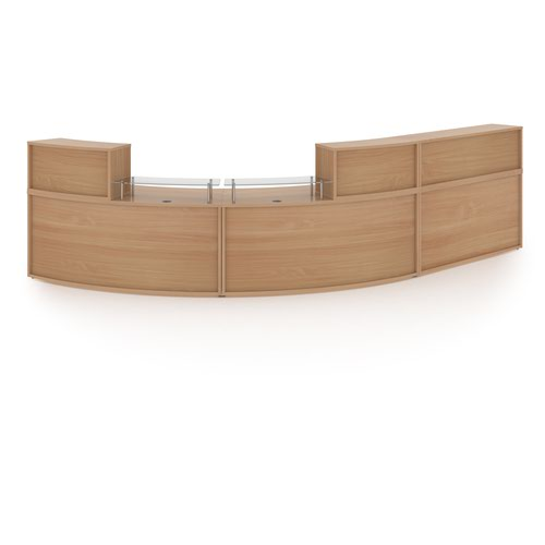 Denver extra large curved complete reception unit - beech