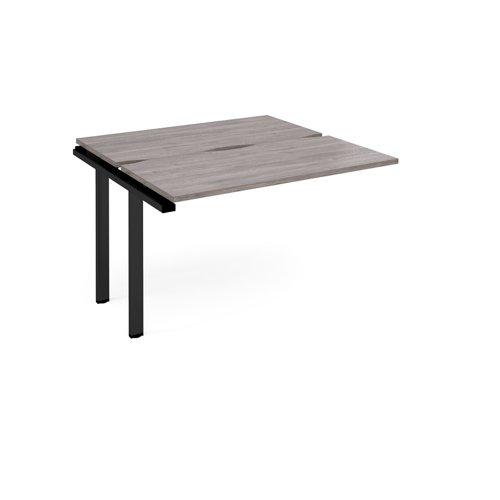 Adapt add on unit single 1200mm x 1200mm - black frame and grey oak top