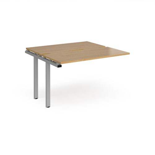 Adapt add on units back to back 1200mm x 1200mm - silver frame and oak top
