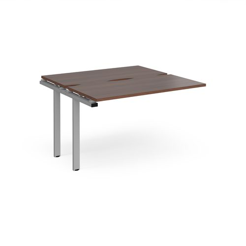 Adapt add on units back to back 1200mm x 1200mm - silver frame and walnut top