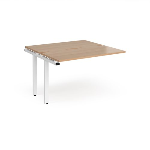 Adapt add on units back to back 1200mm x 1200mm - white frame and beech top