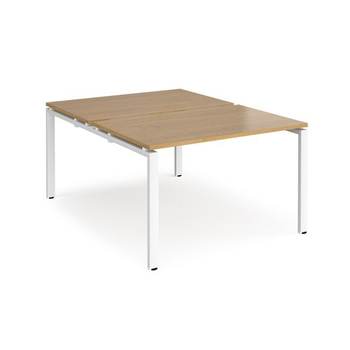 Adapt starter units back to back 1200mm x 1600mm - white frame and oak top