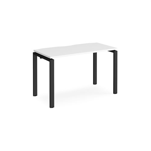 Adapt single desk 1200mm x 600mm - black frame and white top