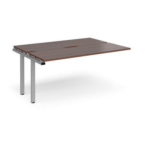 Adapt add on units back to back 1600mm x 1200mm - silver frame and walnut top