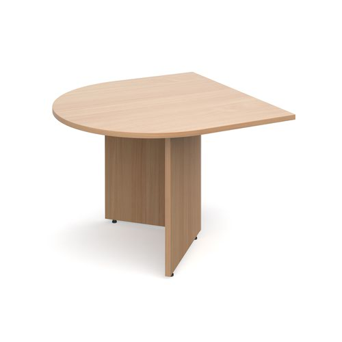 Arrow head leg radial extension table 1000mm x 1000mm - beech