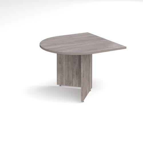 Arrow head leg radial extension table 1000mm x 1000mm - grey oak