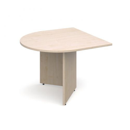 Arrow head leg radial extension table 1000mm x 1000mm - maple