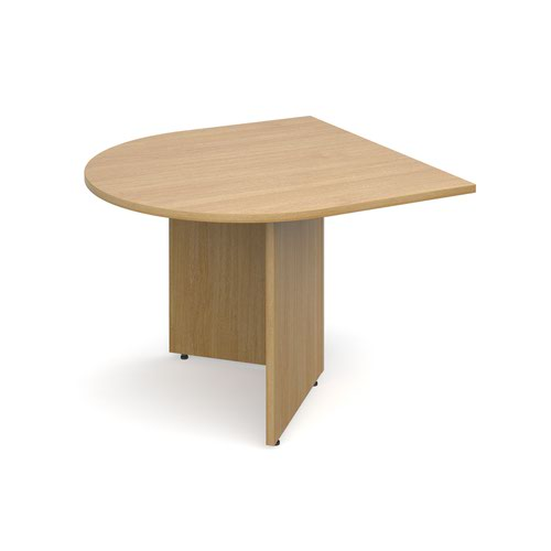Arrow head leg radial extension table 1000mm x 1000mm - oak