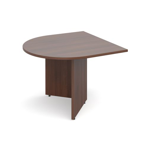 Arrow head leg radial extension table 1000mm x 1000mm - walnut