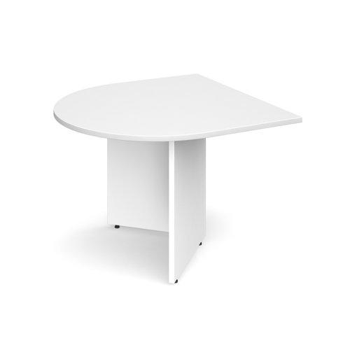 Arrow head leg radial extension table 1000mm x 1000mm - white