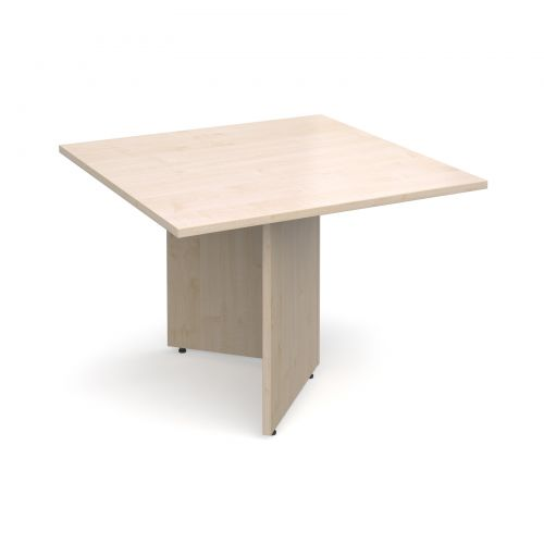Arrow head leg square extension table 1000mm x 1000mm - maple