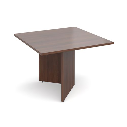 Arrow head leg square extension table 1000mm x 1000mm - walnut