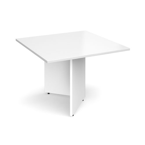 Arrow head leg square extension table 1000mm x 1000mm - white