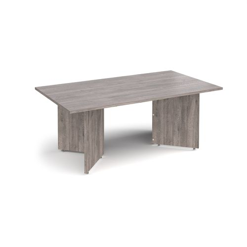 Arrow head leg rectangular boardroom table 1800mm x 1000mm - grey oak