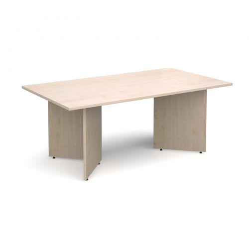 Arrow head leg rectangular boardroom table 1800mm x 1000mm - maple
