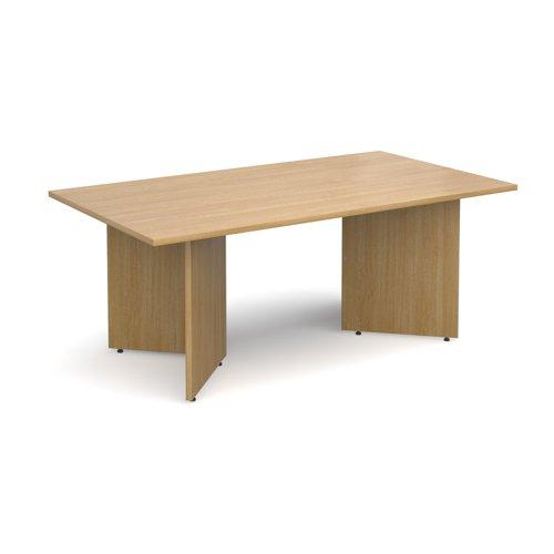 Arrow head leg rectangular boardroom table 1800mm x 1000mm - oak