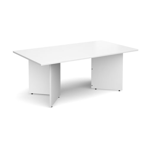 Rectangular Boardroom Table 1800x1000mm White Top EB18WH