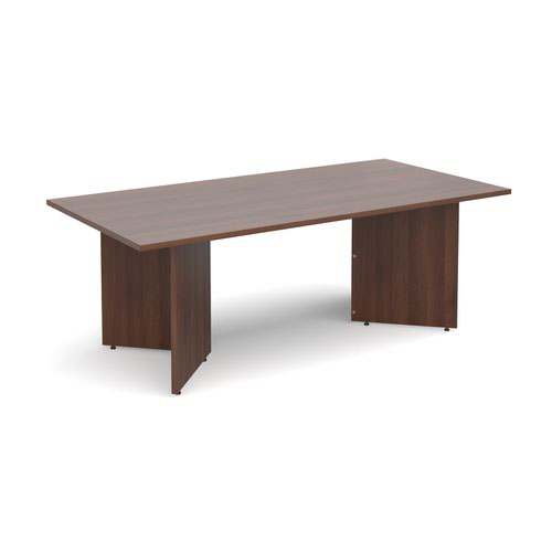Arrow head leg rectangular boardroom table 2000mm x 1000mm - walnut