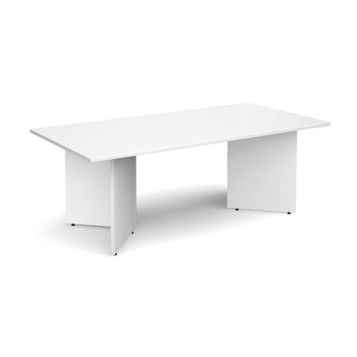 Rectangular Boardroom Table 2000x1000mm White Top EB20WH