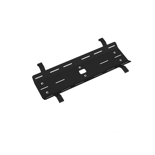 Double drop down cable tray & bracket for Adapt and Fuze desks 1200mm - black