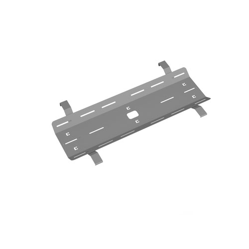 Single desk cable tray for Adapt and Fuze desks 1200mm - silver
