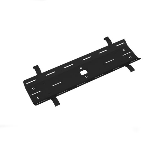 Single desk cable tray for Adapt and Fuze desks 1400mm - black