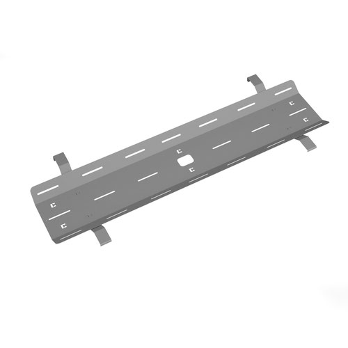 Double drop down cable tray & bracket for Adapt and Fuze desks 1600mm - silver