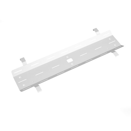 Double drop down cable tray & bracket for Adapt and Fuze desks 1600mm - white