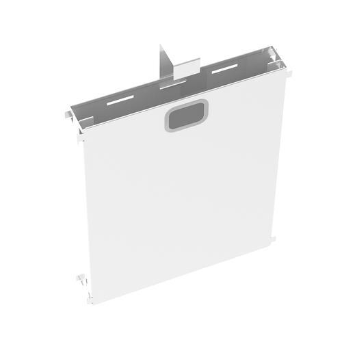 Adapt mass vertical cable riser for intermediate bench leg - white