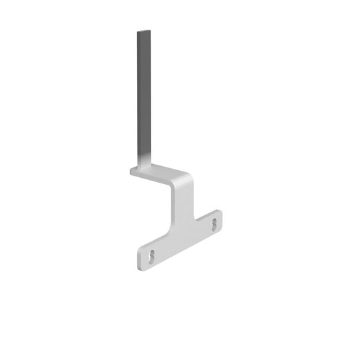 Screen bracket for the ends of back to back Adapt and Fuze desks - white