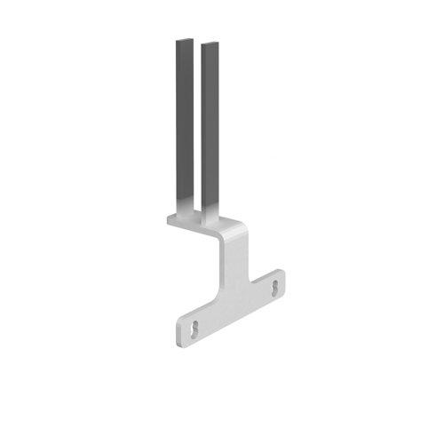 Screen bracket for intermediate back to back Adapt and Fuze desks - white