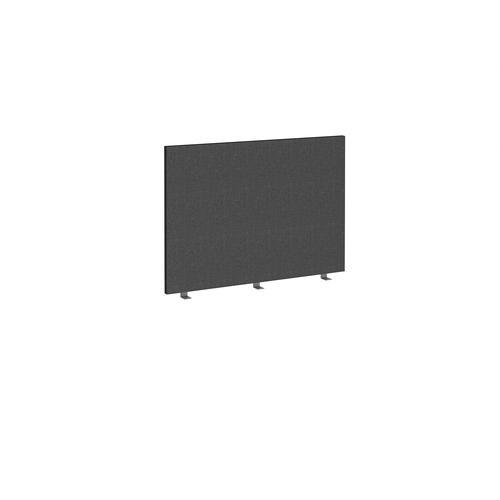 Straight high desktop fabric screen 1000mm x 700mm - charcoal