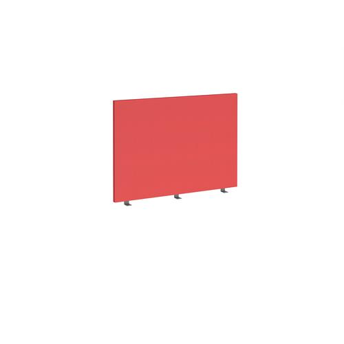 Straight high desktop fabric screen 1000mm x 700mm - pitlochry red