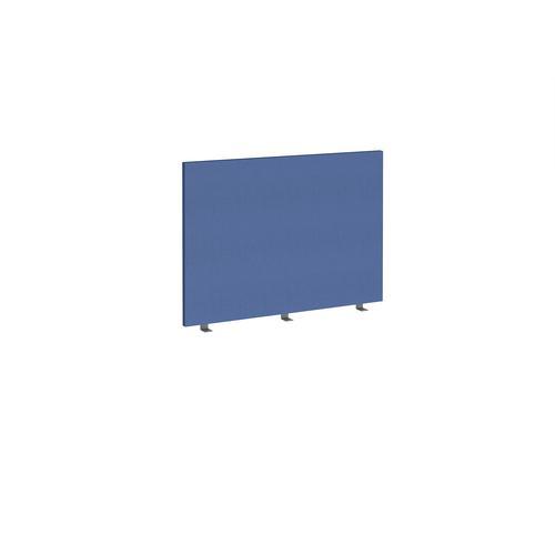 Straight high desktop fabric screen 1000mm x 700mm - adriatic blue
