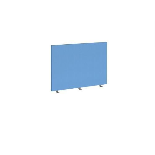 Straight high desktop fabric screen 1000mm x 700mm - inverness blue
