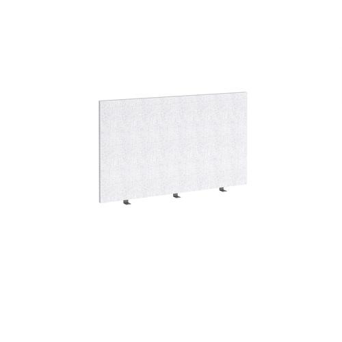Straight high desktop fabric screen 1200mm x 700mm - glass grey