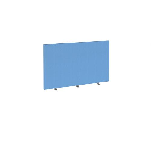 Straight high desktop fabric screen 1200mm x 700mm - inverness blue