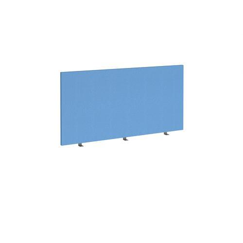 Straight high desktop fabric screen 1400mm x 700mm - inverness blue