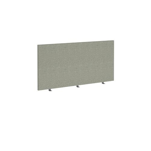 Straight high desktop fabric screen 1400mm x 700mm - hillswick grey