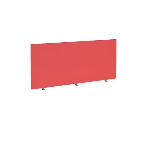 Straight high desktop fabric screen 1600mm x 700mm - pitlochry red