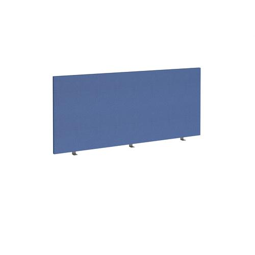 Straight high desktop fabric screen 1600mm x 700mm - adriatic blue
