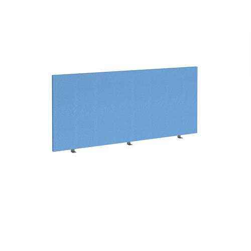 Straight high desktop fabric screen 1600mm x 700mm - inverness blue