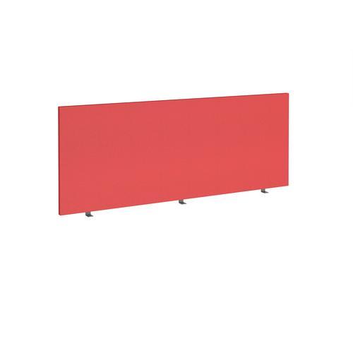 Straight high desktop fabric screen 1800mm x 700mm - pitlochry red