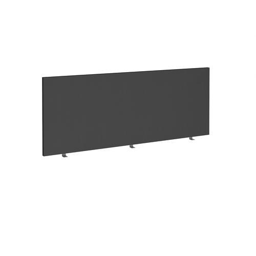 Straight high desktop fabric screen 1800mm x 700mm - black