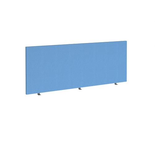 Straight high desktop fabric screen 1800mm x 700mm - inverness blue
