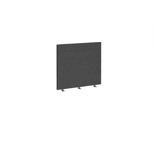 Straight high desktop fabric screen 800mm x 700mm - charcoal